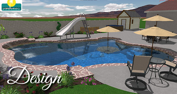 computer generated 3d pool design