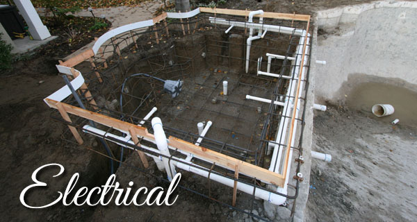 Electrical work in the skeleton of a spa.