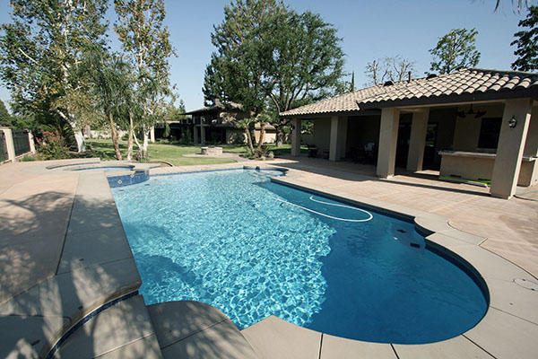 Before a Paradise Pools and Spas remodel.