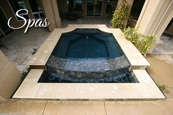Custom Spa by Paradise Pools and Spas.