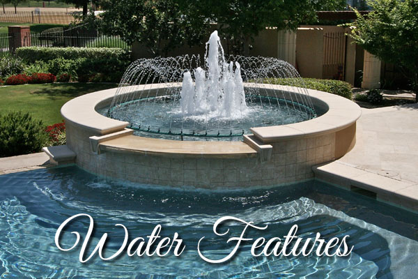 Custom Fountian by Paradise Pools and Spas.