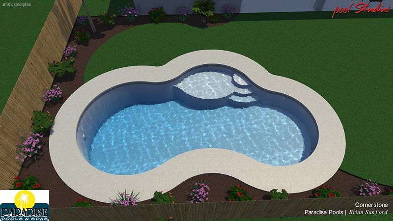 Paradise 3 Bubble Swimming Pool