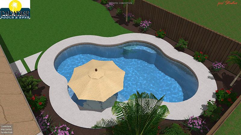 Paradise 4 Bubble Swimming Pool