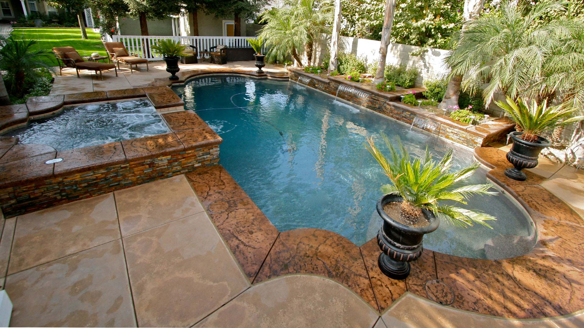 Remodeled Pool by Paradise Pools and Spas
