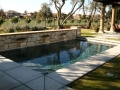 rectangle pool raised wall with shear descents
