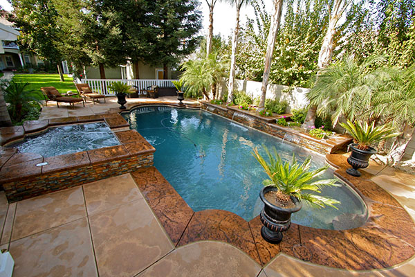 After aParadise Pools and Spas remodel.