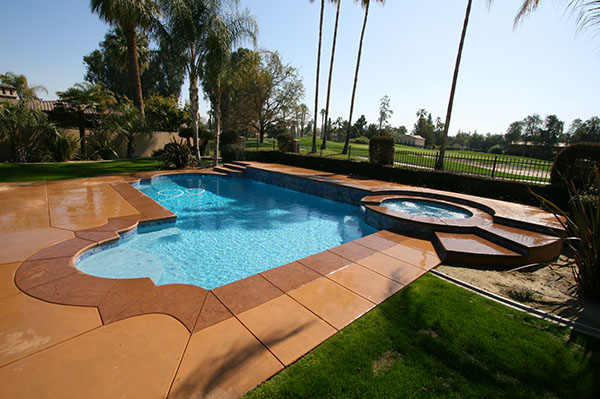 After a beautiful pool remodeling job  by Paradise Pools and Spas.