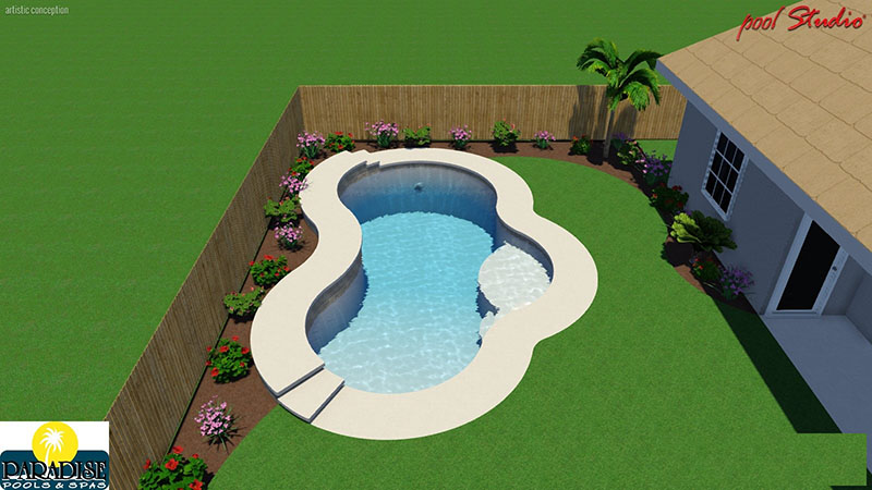 Paradise 3 Bubble with Raised Deck Swimming Pool