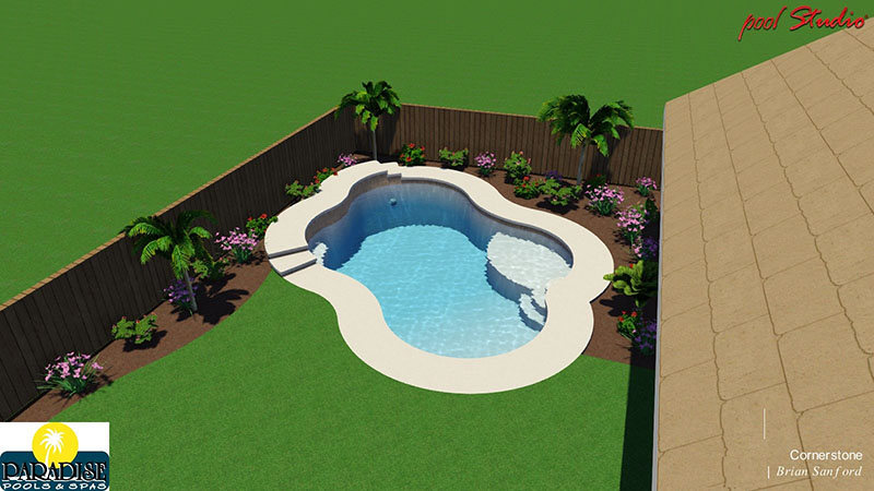 Paradise 4 Bubble Swimming Pool with Raised Deck