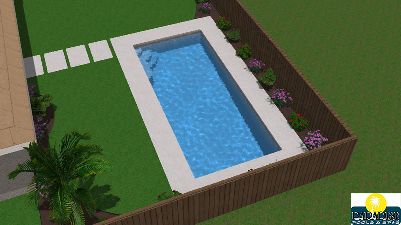 Paradise Geometric Swimming Pool