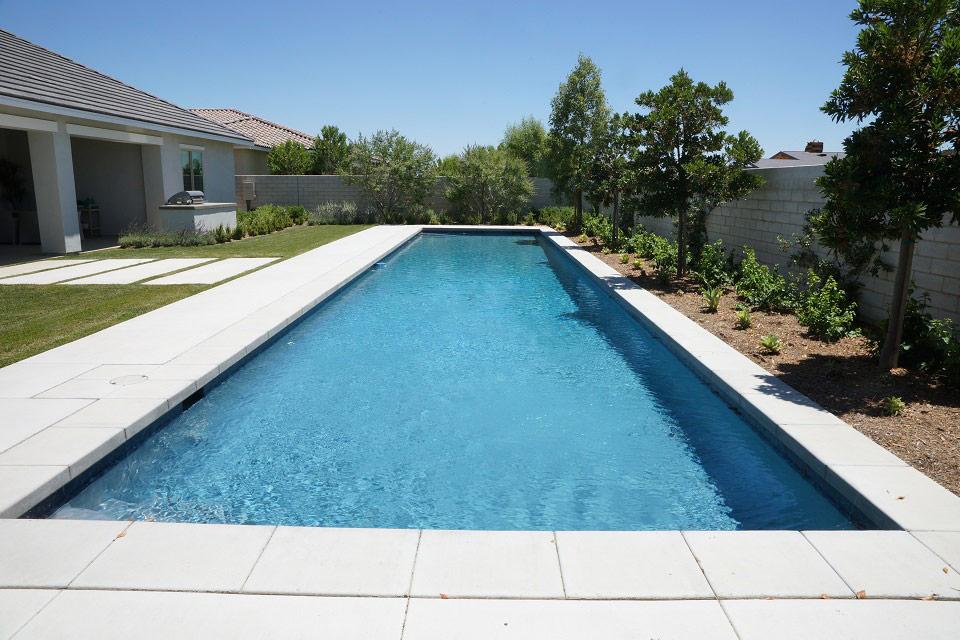 Long Geometric lap pool.