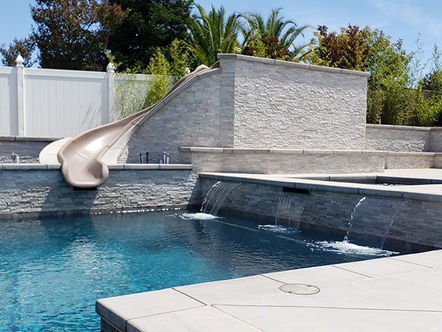 Paso Robles swimming pool built by Paradise Pools & Spas.