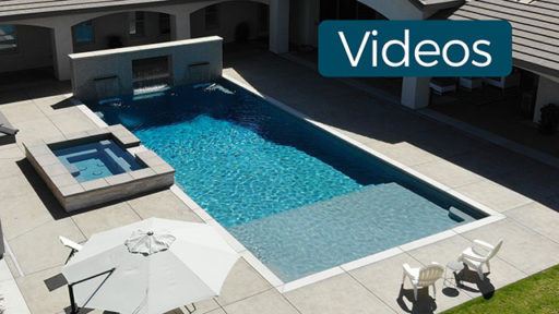 Beautiful Pool with Spa and water wall. Video.