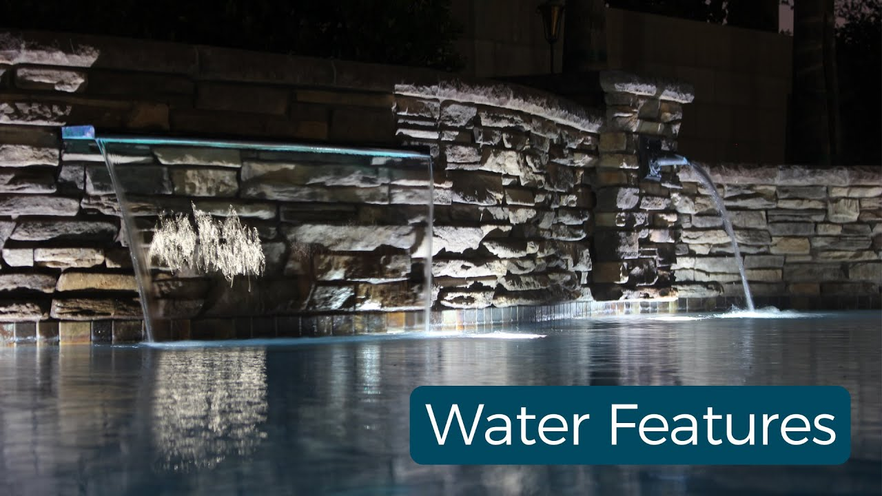 Beautiful water features designed and built by Paradise Pools & Spas, Bakersfield, CA.