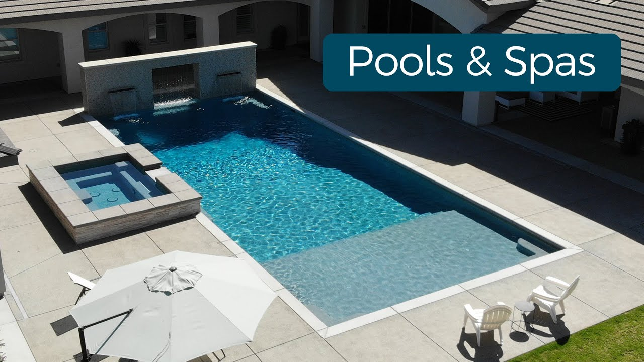 Beautiful custom pools and spas designed and built by Paradise Pools & Spas in Bakersfield, California.